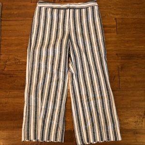 Ann Taylor NWT Linen/Cotton Wide Leg Cropped Pants